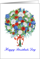 Presidents Day Patriotic Bouquet card