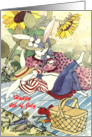 July 4th Picnic Hares card