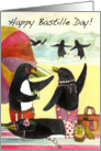 Bastille Day, Penguin Beach card