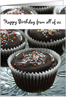Happy Birthday from all of us - cupcake lover card
