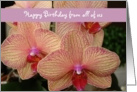 Happy Birthday from all of us - orchid card