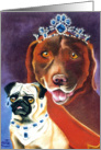 Pug and Lab Royalty card