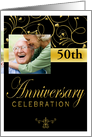 50th Anniversary Party Photo Invitation card