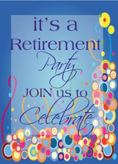 Retirement Party Invitation Greeting Card