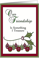 Merry Christmas Friend card