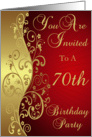 70th Birthday Party Invitation card