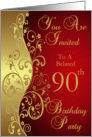Belated 90th Birthday Party Invitation card