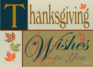 Fall foliage and Earth Tones Thanksgiving Card Greeting Card