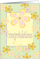 Congratulations Card - Flower Design card