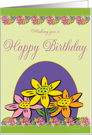 Springtime Flowers BIrthday Card