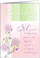 Pastels and Flowers Birthday Card