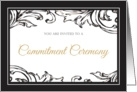Commitment Ceremony - Gay Invitation card