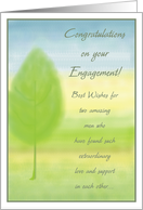 Engagement Congratulations - Gay Men card