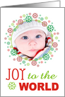Joy to the World- Photo Card