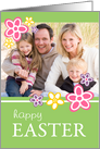 Happy Easter - Flower Photo Card
