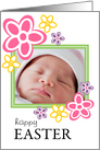 Happy Easter - Flower Photo Card Frame card