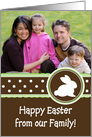 Chocolate Brown Easter - Photo Card