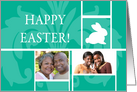 Teal Easter Floral - Photo Card