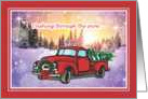 Red Truck - Christmas card