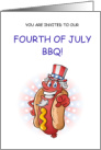 4th of July BBQ - Invitation card