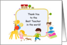 Thank You - Teacher card