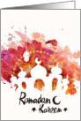 Ramadan Kareem Greetings, Mosque card