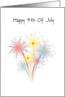 Happy 4th of July Greeting, Fireworks card