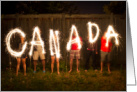 Happy Canada Day Greetings,To Grandparents, Sparklers card
