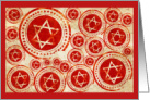 Hanukkah Greetings to Co- Worker- Star of David-Red and Gold design card