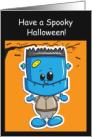 Happy Halloween, Nephew- Little Frankenstein card