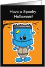 Happy Halloween, Godson- Little Frankenstein card