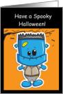 Happy Halloween, Great Grandson, Little Frankenstein card