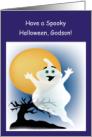 Happy Halloween, Godson- Cute Ghost card