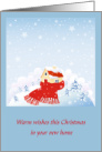 1st Christmas in New Home, House in Winter Scene card