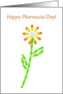 Happy Pharmacist Day,Pill Flower card