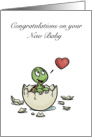 Congratulations on your New Baby- Cute Baby Turtle card