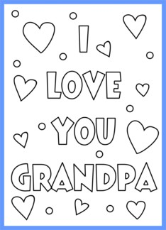 Happy birthday grandpa coloring pages  Gallery Tube
