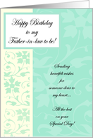 Happy Birthday - Future Father in law card