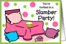 Invitation - Slumber Party card