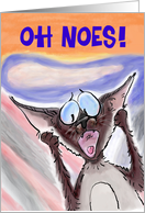 Siamese Cat Belated Birthday Humor card