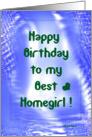 Happy Birthday to my Best Homegirl card