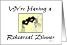 New Orleans Style Rehearsal Dinner card