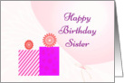 Birthday Wishes Sister card
