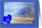 Happy Birthday Sweet 16 granddaughter Beach Wave card
