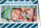 Happy New Year Baby Announcement card