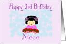 Happy 3rd birthday Asian Niece card