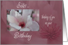 Tulip tree flower Sis Birthday card