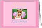 Happy Birthday Pink photo card