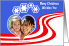 Merry Christmas Patriotic heart card