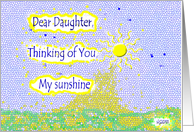 Thinking of you Estranged daughter Sunshine card